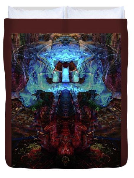 Yoga Statue Duvet Cover