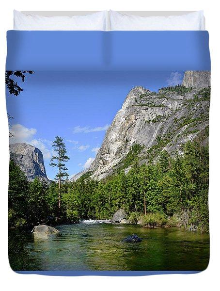 Yosemite Mirror Lake, Lower Pool Duvet Cover