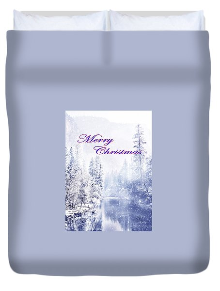 Yosemite-river Duvet Cover