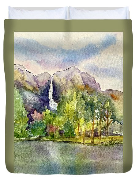 Yosemite Waterfalls Duvet Cover
