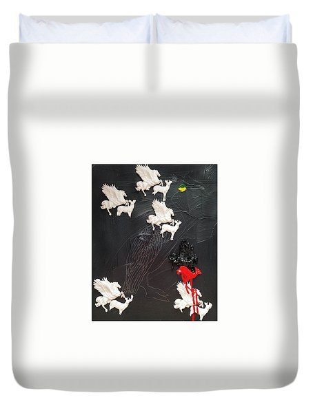 You Can Spot A Stallion A Mile Away Duvet Cover