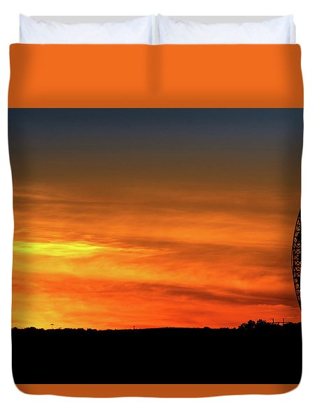 Vertical Roller Coaster At Sunset Duvet Cover