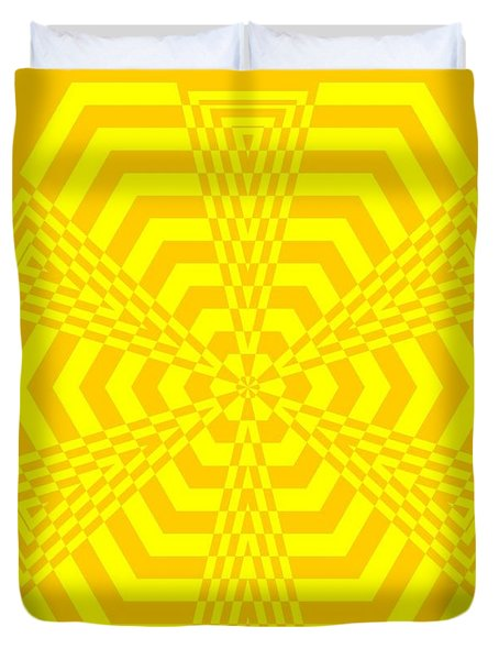 Young At Heart Yellow Duvet Cover
