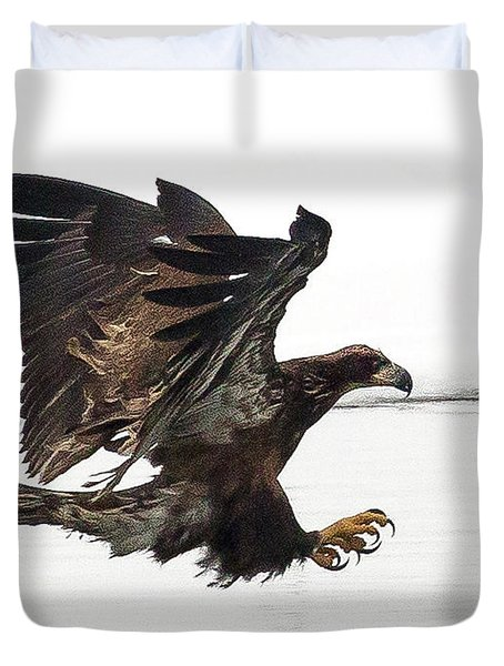 Young Bald Eagle Duvet Cover