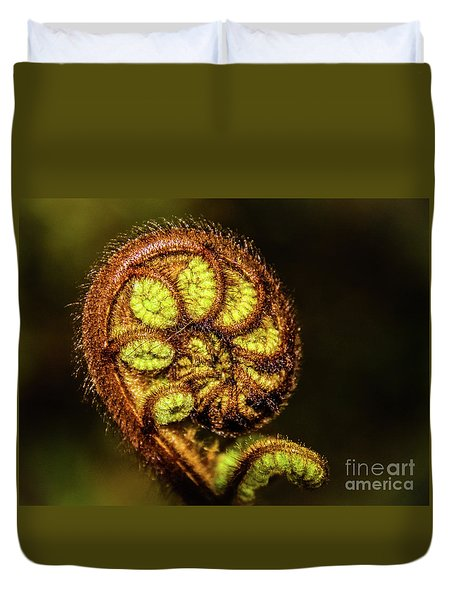 Young Fern Leaves Duvet Cover