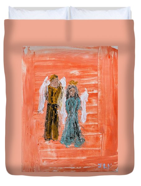Young Love Angels Duvet Cover