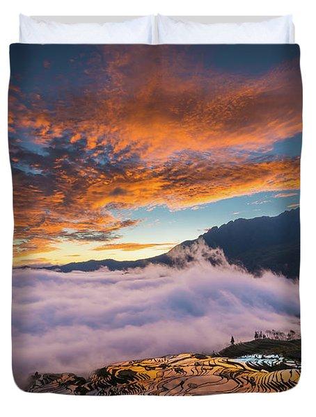 Yuanyang Sunrise Duvet Cover