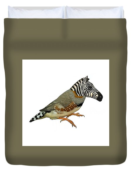 Z Is For Zebra Finch Thats Not A Zebra Finch Duvet Cover