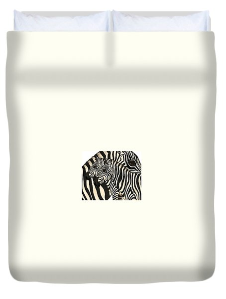 Z Is For Zebras Duvet Cover