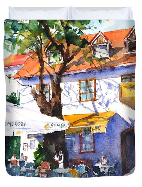 Zagreb Cafe #3 Duvet Cover