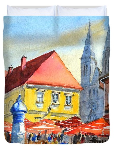 Zagreb Near Dolce Market Duvet Cover