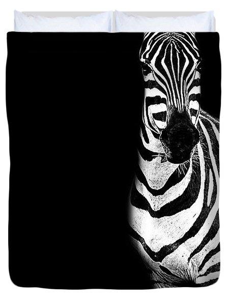 Zebra Drama Duvet Cover