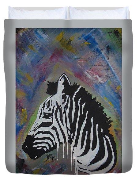 Zebra Drip Duvet Cover