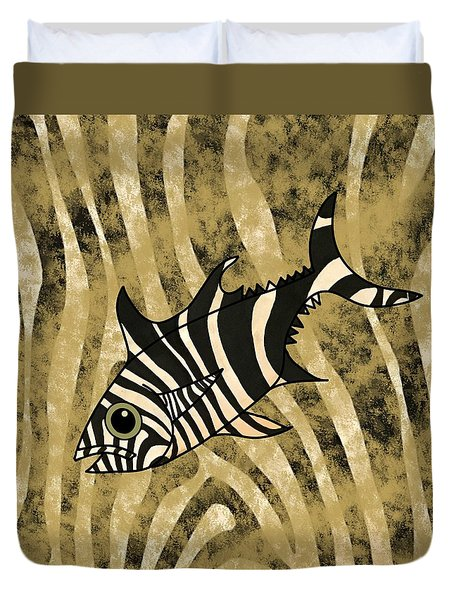 Zebra Fish 1 Duvet Cover