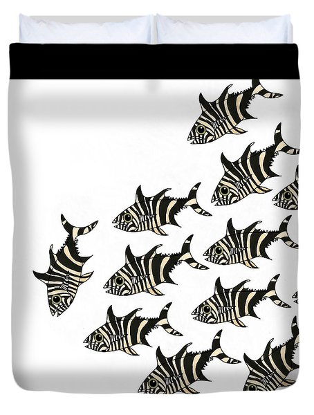 Zebra Fish 1 Of 4 Duvet Cover