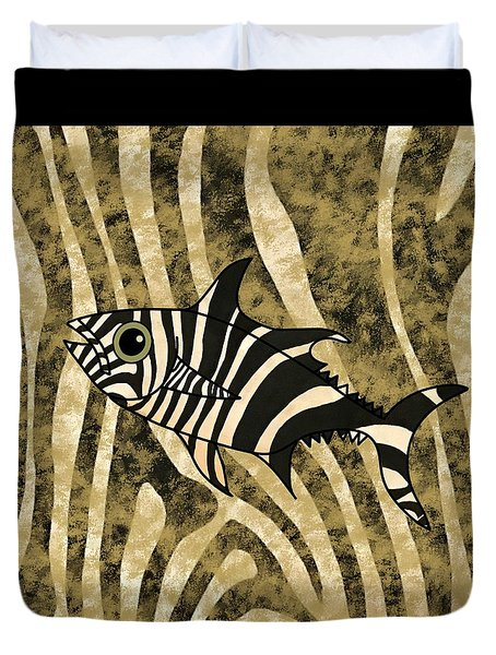 Zebra Fish 2 Duvet Cover