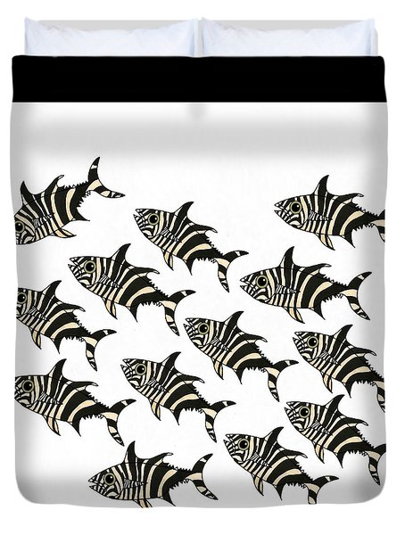 Zebra Fish 2 Of 4 Duvet Cover
