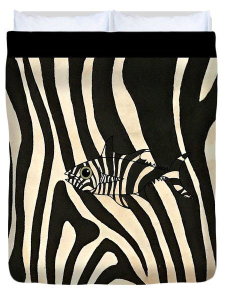 Zebra Fish 3 Duvet Cover