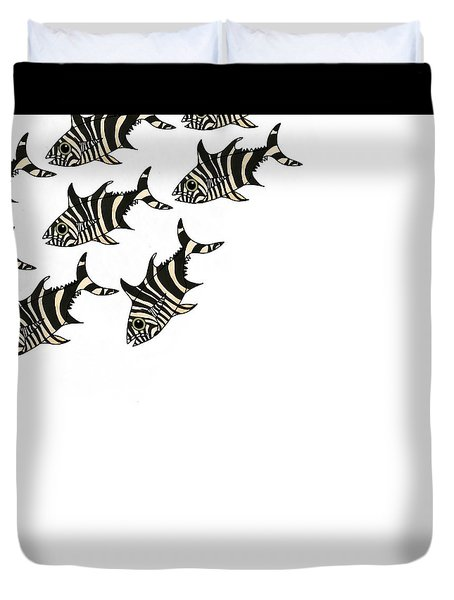 Zebra Fish 3 Of 4 Duvet Cover
