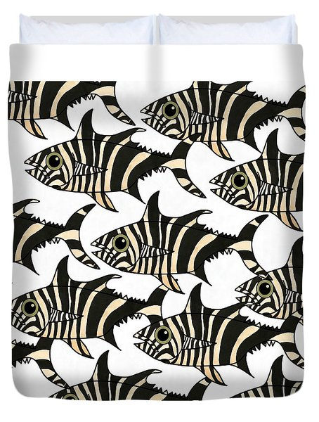 Zebra Fish 4 Duvet Cover
