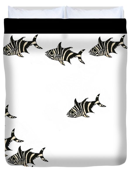 Zebra Fish 4 Of 4 Duvet Cover