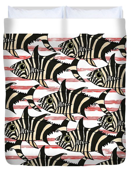 Zebra Fish 6 Duvet Cover