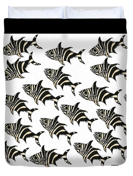 Zebra Fish 7 Duvet Cover