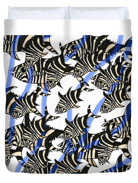 Zebra Fish 8 Duvet Cover