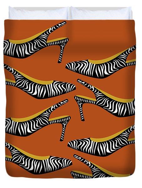 Zebra Slingbacks  Duvet Cover