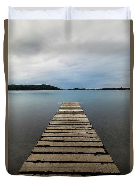 Duvet Cover featuring the photograph Zen II by Davor Zerjav