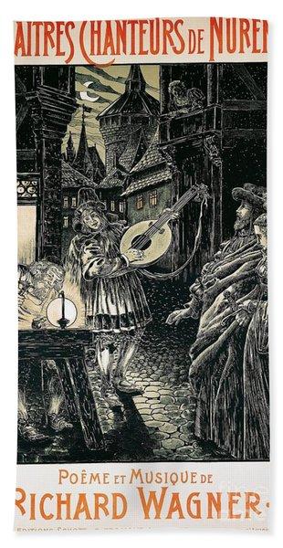 Poster Of The Mastersingers Of Nuremberg  Hand Towel