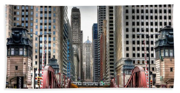 0295b Lasalle Street Bridge Hand Towel