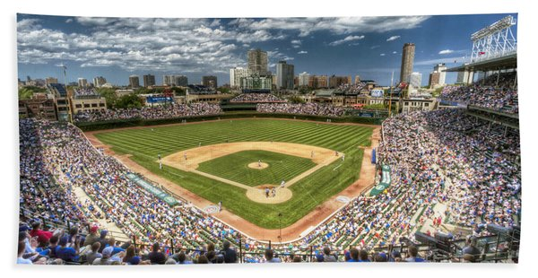 0443 Wrigley Field Chicago  Bath Towel