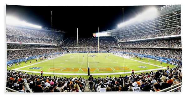 0856 Soldier Field Panoramic Hand Towel