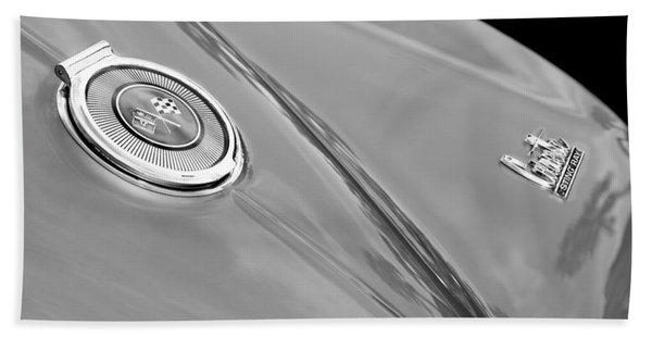 1966 Chevrolet Corvette Coupe Emblems Hand Towel