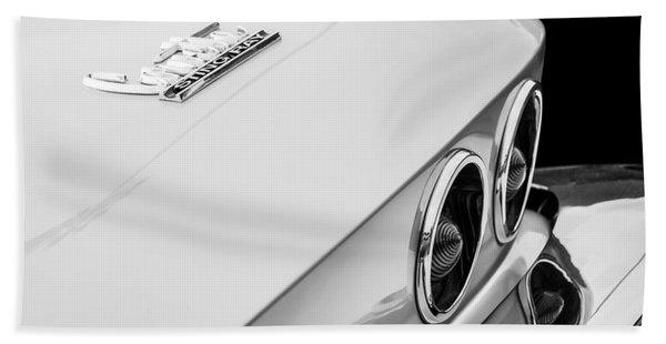 1967 Chevrolet Corvette Coupe Taillight Emblem Hand Towel