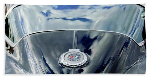Hand Towel featuring the photograph 1967 Chevrolet Corvette Rear Emblem by Jill Reger