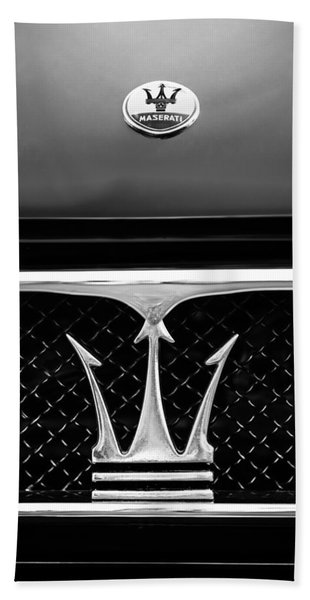 1967 Maserati Ghibli Grille Emblem Hand Towel