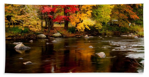 Autumn Colors Reflected Hand Towel