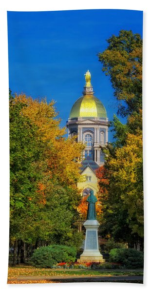 Autumn On The Campus Of Notre Dame Bath Towel