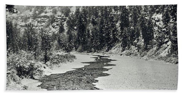 Colorado Winter Hand Towel