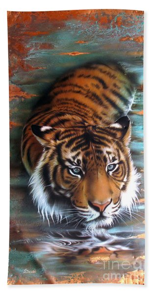 Copper Tiger II Hand Towel