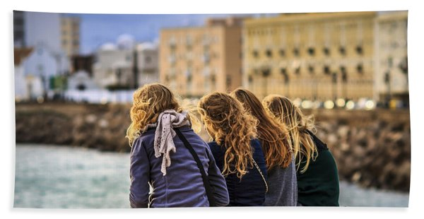 Foreign Students Cadiz Spain Bath Towel