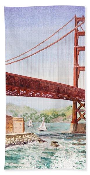 Golden Gate Bridge San Francisco Hand Towel
