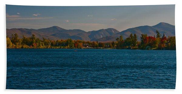 Lake Placid And The Adirondack Mountain Range Hand Towel