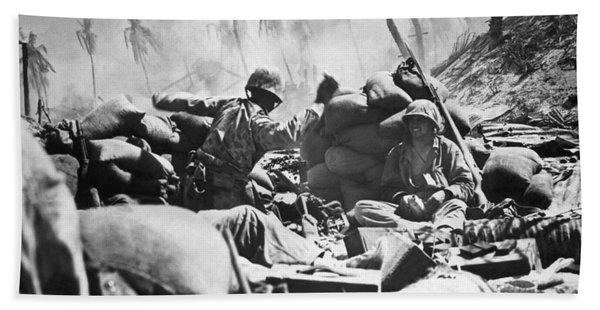 Marines Fight At Tarawa Bath Towel