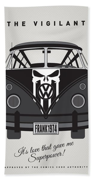 My Superhero-vw-t1-punisher Bath Towel