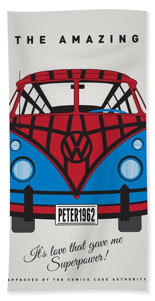 My Superhero-vw-t1-spiderman Bath Towel