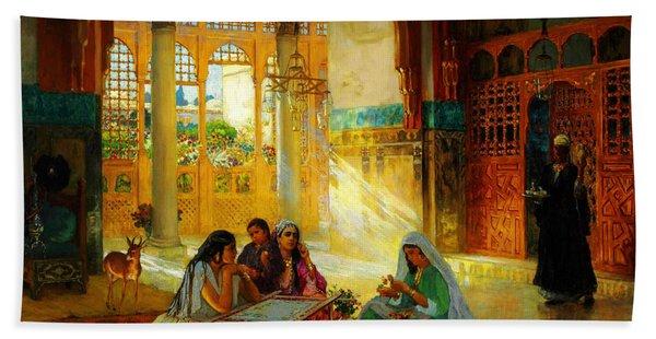 Ottoman Daily Life Scene Hand Towel