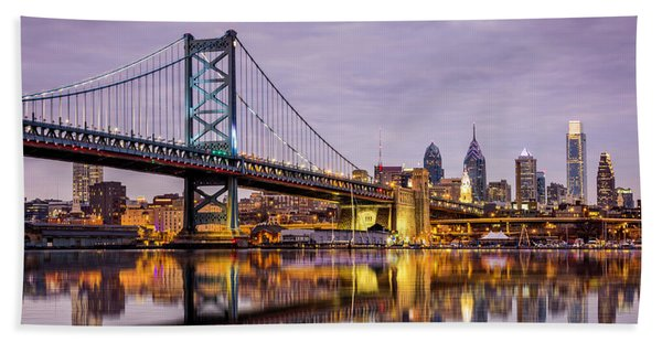 Hand Towel featuring the photograph Philly by Mihai Andritoiu